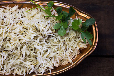 Steamed and Jeera Rice